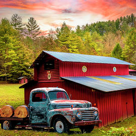 Big Ford Truck at the Big Red Barn by Debra and Dave Vanderlaan
