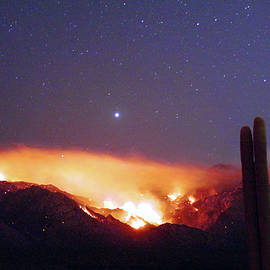 Bighorn Fire At Night by Douglas Taylor
