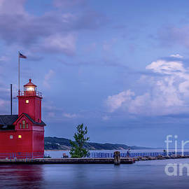 Big Red at Blue Hour, Holland, Michigan by Liesl Walsh