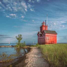 Big Red in the Morning, Holland, Michigan by Liesl Walsh
