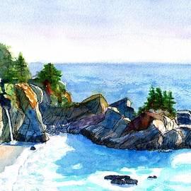 Big Sur McWay Falls by Carlin Blahnik CarlinArtWatercolor