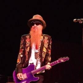 Billy Gibbons Of Zz Top On Lead Guitar by John Telfer