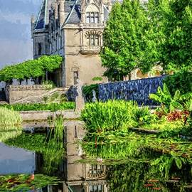 Biltmore Reflection In The Italian Gardens II Painting by Carol Montoya