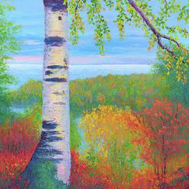 Birch at Gitche Gumee by Nancy Gregg