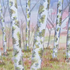 Birch Tree Stand by Bradley Boug