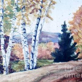 Birches in Autumn by Catherine Ludwig Donleycott