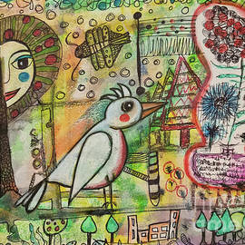 BIRD and APPLETREE by Mimulux Patricia No