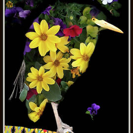Bird Of Flowers by Constance Lowery