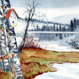 Birdhouse By The Lake by Margaret Bucklew