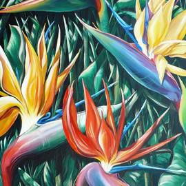Birds Of Paradise  Sold    by Karin  Dawn Kelshall- Best