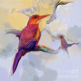 Birds Ruddy Kingfisher by Zsanan Studio