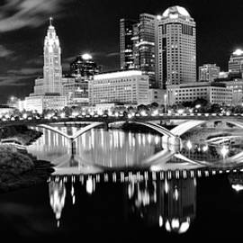 Black and Blacker in Columbus by Frozen in Time Fine Art Photography
