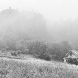 Black and White Abandoned Hut in the Mountains  by Arro FineArt