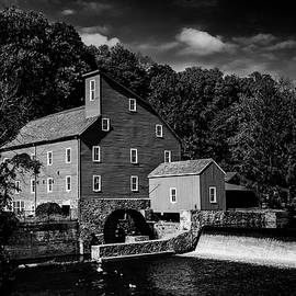 Black And White Clinton Mill by Denise Harty