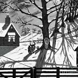 Black and White Country Christmas by Jeffrey Koss