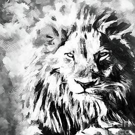 Black And White Lion by Tina LeCour
