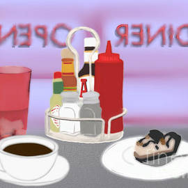 Black Coffee and Pie Scene