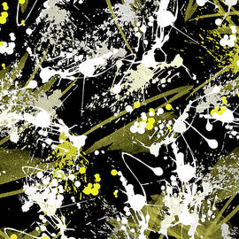 Black Gold Odyssey Abstract by Christina Rollo