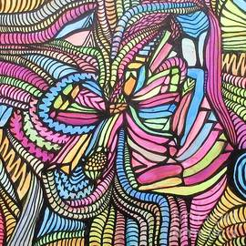 Black Light Neon Grafitti  by Bradley Boug