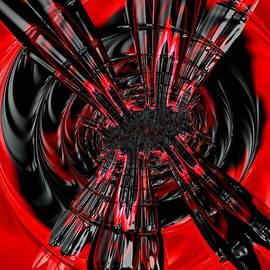 Black Target - Abstract by Barbara Zahno