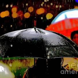 Black Umbrella by Michael Martin