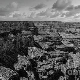 Black White Textures of Grand Canyon Arizona  by Chuck Kuhn