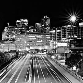 Blackest and Whitest Pano in Cinci by Frozen in Time Fine Art Photography