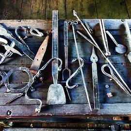 Blacksmith Tools on Table by Susan Savad