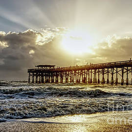 Blast Of Light At Cocoa Beach by Jennifer White