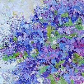 Blooming lilac bush by Olga Malamud-Pavlovich