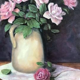 Blooming Pink Roses by Anne Barberi