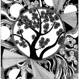 Blooming springtime tree by Orinta Misiuniene