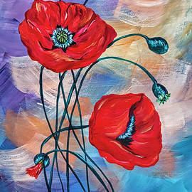 Blooms of Three by Janice Pariza