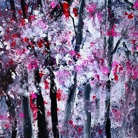 Blossoms in the Woods by Nancy Rabe