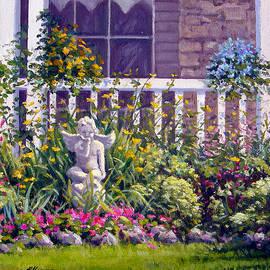 Blowing Kisses in the Garden by Rick Hansen
