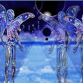 Blue Aliens by Hartmut Jager