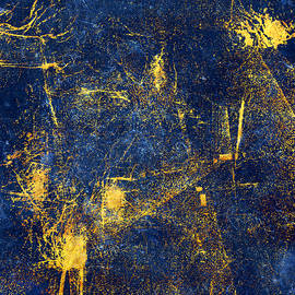 Blue and Gold Textured Abstract by Western Exposure