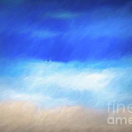 Blue and sand by Birgitta Astrand