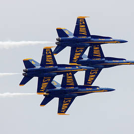 Blue Angels in Formation by Donna Kaluzniak