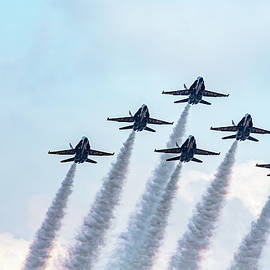 Blue Angels in Formation by Kay Brewer