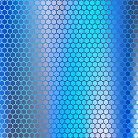Blue Aqua Hexagon Pattern by Shapes Mania