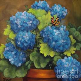 Blue Beauties with Butterfly by Danett Britt