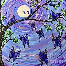 Blue Butterfly's Making Magic  by Jeffrey Koss
