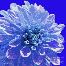 Blue Dahlia Fantasy Flower by Janie Easley Ballard