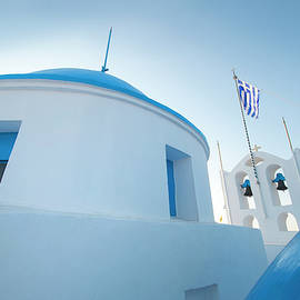 Blue Domed Rooftops, Sifnos Greece by Michael Chiabaudo