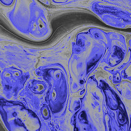 Blue Dreams Abstract by Robert Tubesing