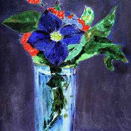 Blue Flower  by Jasna Dragun