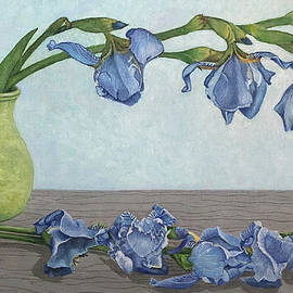 Blue Flowers of Hope - Oil Painting by Ralph Taeger