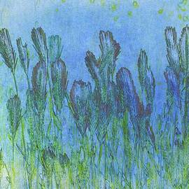 Blue Grass Abstract by Louise Merigot