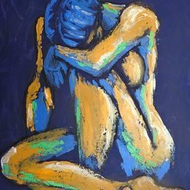 Blue Heart 4 - Female Nude by Carmen Tyrrell